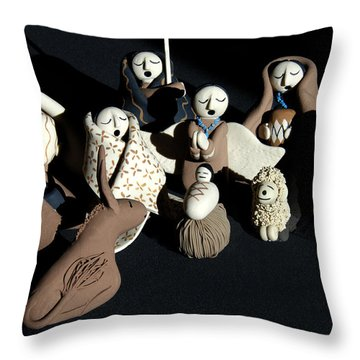 Manger Throw Pillow