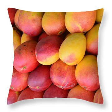 Mango Lineup Throw Pillow
