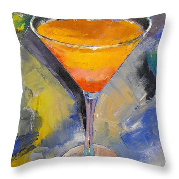 Mango Martini Throw Pillow