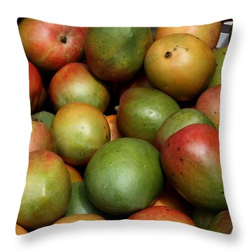Mangoes Throw Pillow by Carol Groenen
