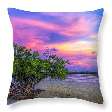 Mangrove By The Bay Throw Pillow