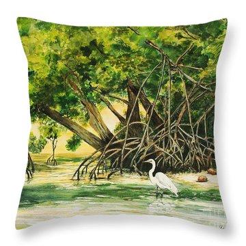 Mangrove Morning Throw Pillow