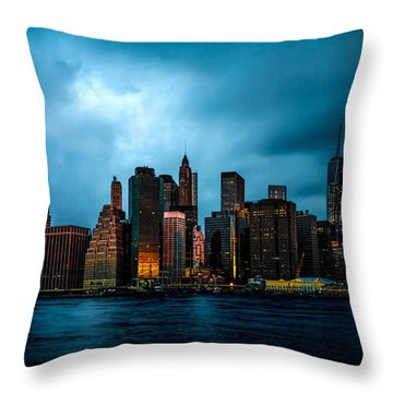 Throw Pillow featuring the photograph Manhattan At Dawn by Chris Lord