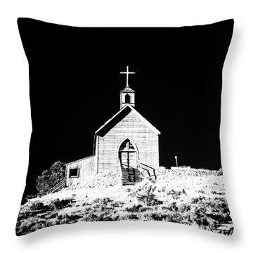 Manhattan Church High Contrast Throw Pillow by Cat Connor