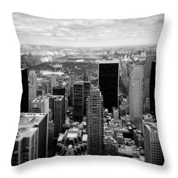 Manhattan Throw Pillow by Dave Bowman