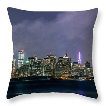 Manhattan Island  Throw Pillow
