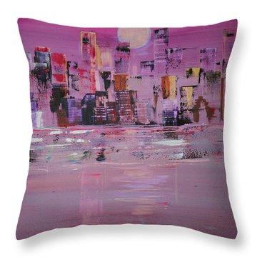 Manhattan Moonshine Throw Pillow