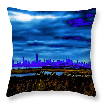 Manhattan Project Throw Pillow