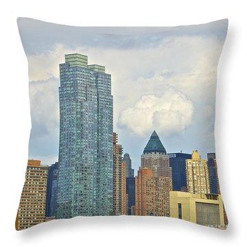 Manhattan Skyline II Throw Pillow by Galexa Ch