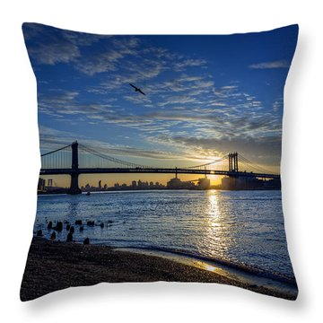 Manhattan Sunset Throw Pillow