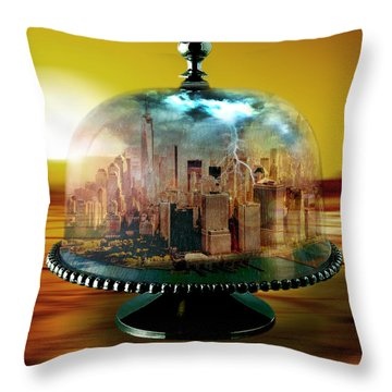 Manhattan Under The Dome Throw Pillow