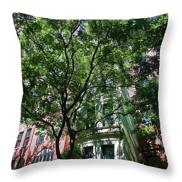 Throw Pillow featuring the photograph Manhattan Upper East Side Late Summer by Andy Prendy