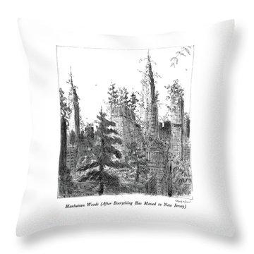 Manhattan Woods Throw Pillow