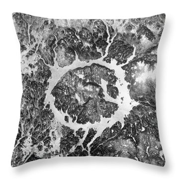 Manicouagan Crater Throw Pillow by Anonymous