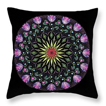Manifestation Throw Pillow by Keiko Katsuta