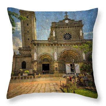 Manila Cathedral Throw Pillow