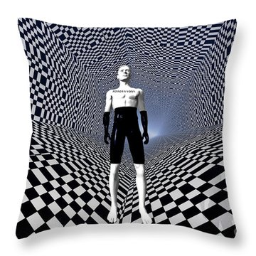Mankinds Use Of Binary Language Throw Pillow by Mark Stevenson