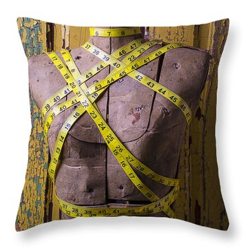 Mannequin Form Throw Pillow