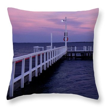 Manns Beach Jetty Throw Pillow