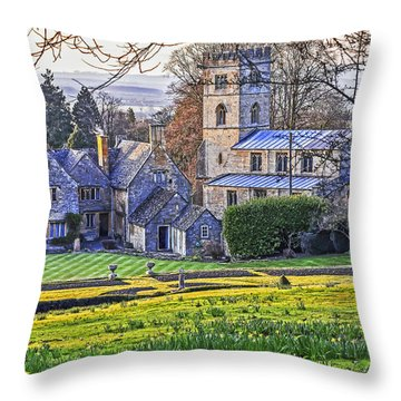 Manor House Throw Pillow