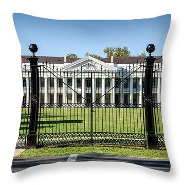 Manresa House Of Retreats In Convent Louisiana Throw Pillow