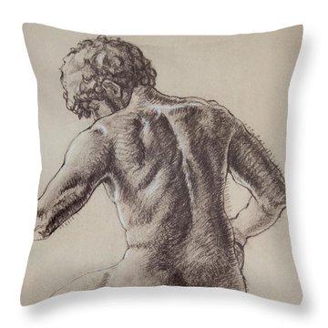 Man's Back Throw Pillow by Sarah Parks