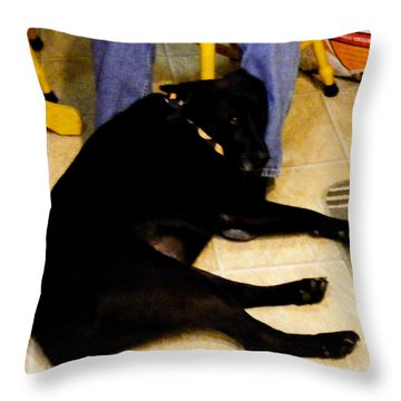 Throw Pillow featuring the photograph Man's Best Friend by Barbara Griffin