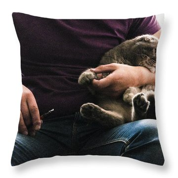 Man's Thing Throw Pillow by Yevgeni Kacnelson