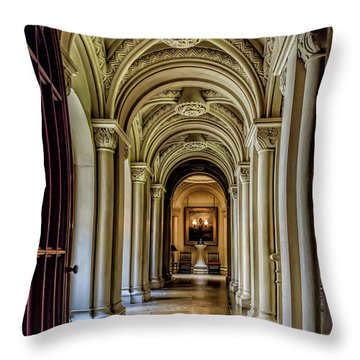 Mansion Hallway Throw Pillow
