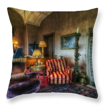 Mansion Lounge Throw Pillow by Ian Mitchell