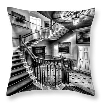 Mansion Stairway V2 Throw Pillow