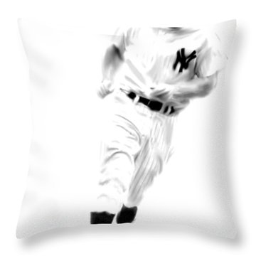 Mantles Gate  Mickey Mantle Throw Pillow by Iconic Images Art Gallery David Pucciarelli