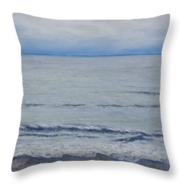 Throw Pillow featuring the painting Manx Mist by Stanza Widen