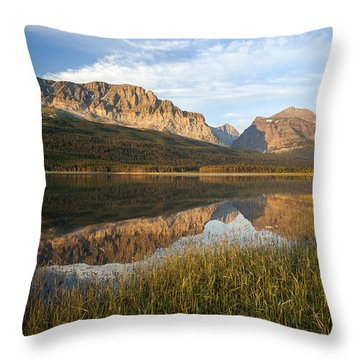 Throw Pillow featuring the photograph Many Glacier Reflections by Jack Bell