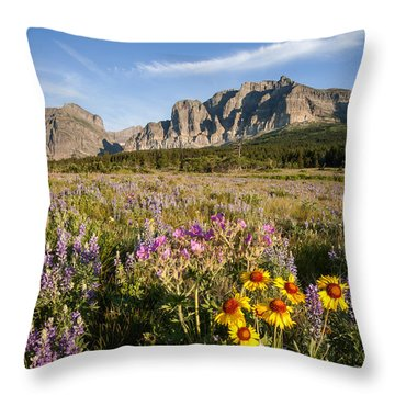 Throw Pillow featuring the photograph Many Glacier Spring by Jack Bell
