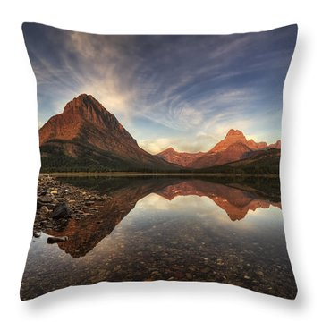 Many Glacier Zen Throw Pillow