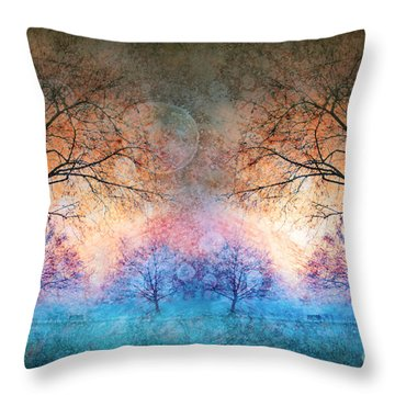 Many Moons Throw Pillow by Tara Turner
