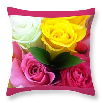 Many Roses Throw Pillow