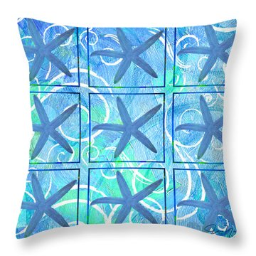 Many Stars By Jan Marvin Throw Pillow