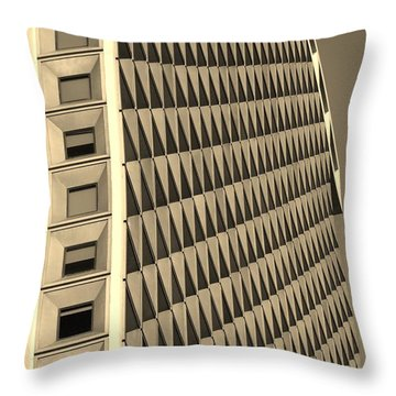 Many Windows In Sepia Throw Pillow by Rob Hans