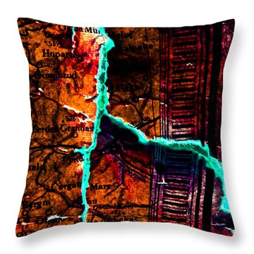 Map 01 Throw Pillow by Grebo Gray
