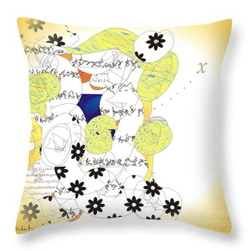 Throw Pillow featuring the digital art Map by Gabrielle Schertz