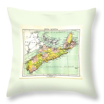 map of Nova Scotia - 1878 Throw Pillow