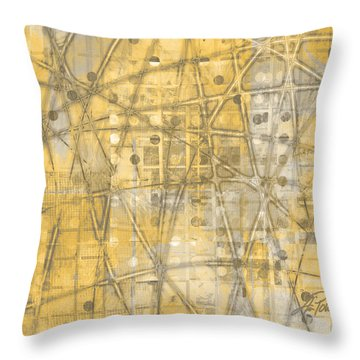 Map Of Secrets  Throw Pillow by Ann Powell