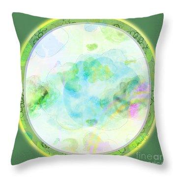 Throw Pillow featuring the digital art Map Plate by Gabrielle Schertz