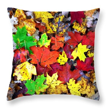 Throw Pillow featuring the photograph Maple Carpet by Jackie Carpenter
