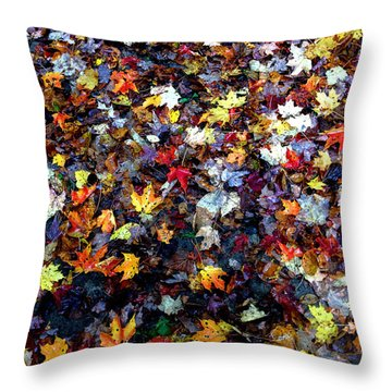 Throw Pillow featuring the photograph Maple Chaos by Wayne King