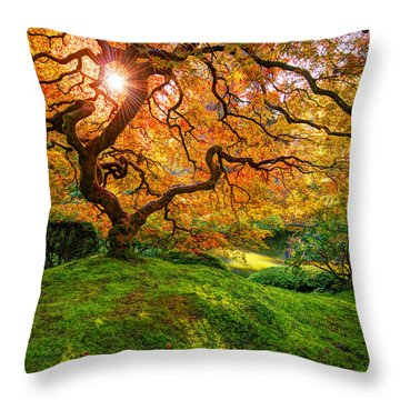 Throw Pillow featuring the photograph Maple  by Dustin  LeFevre