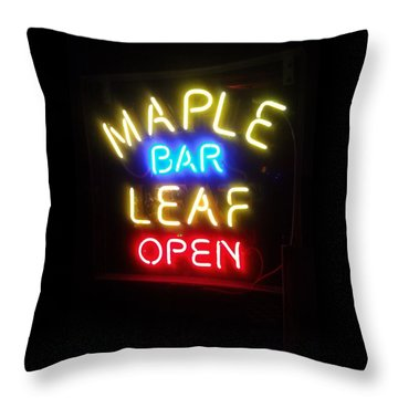 Maple Leaf Bar Throw Pillow