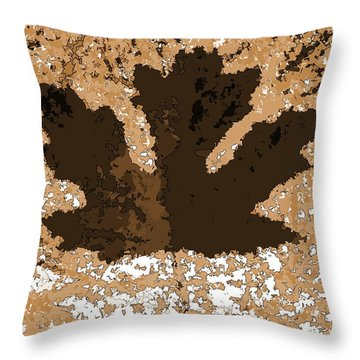 Maple Leaf Brown  Hues Throw Pillow